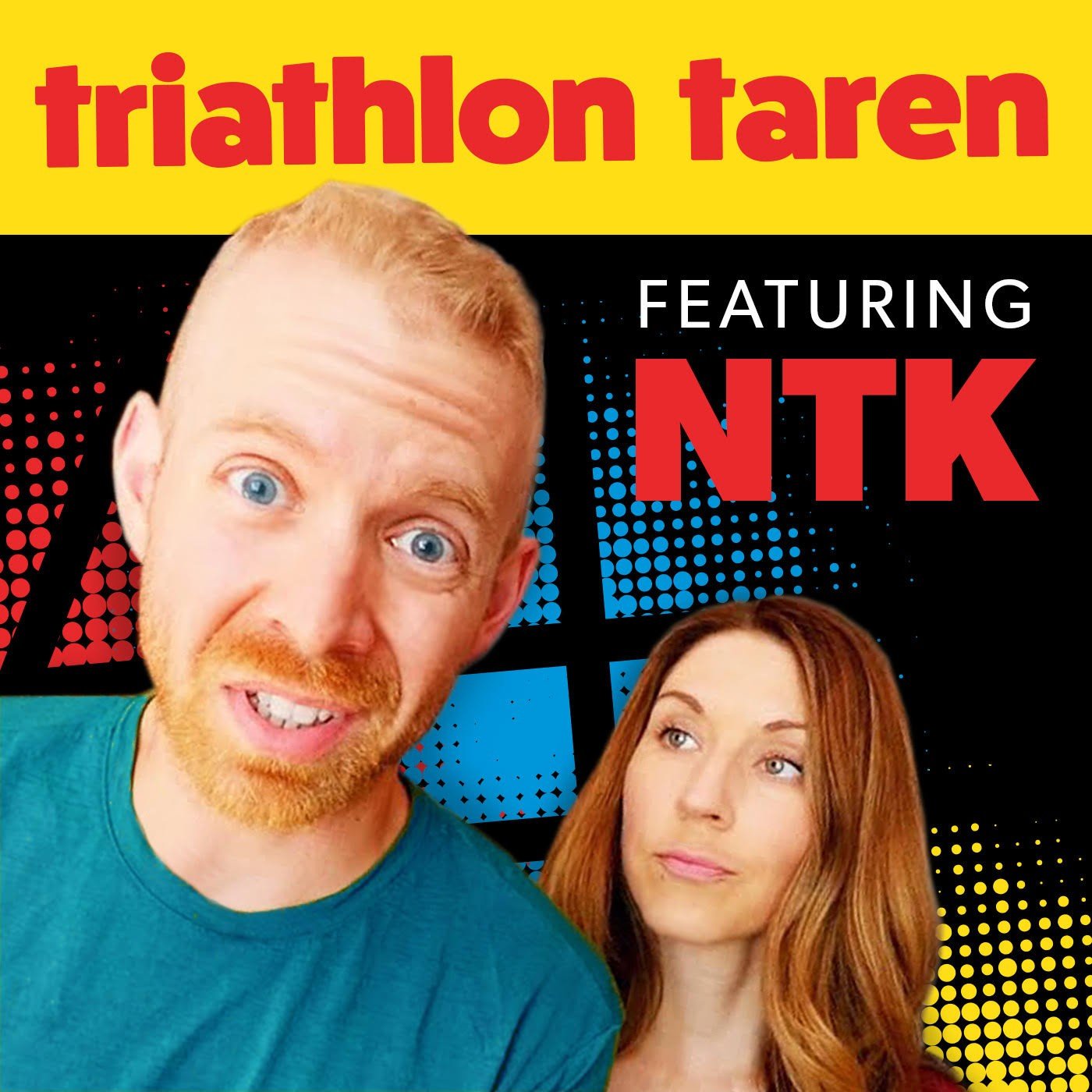 Triathlon Taren & No Triathlon Kim Podcast Art