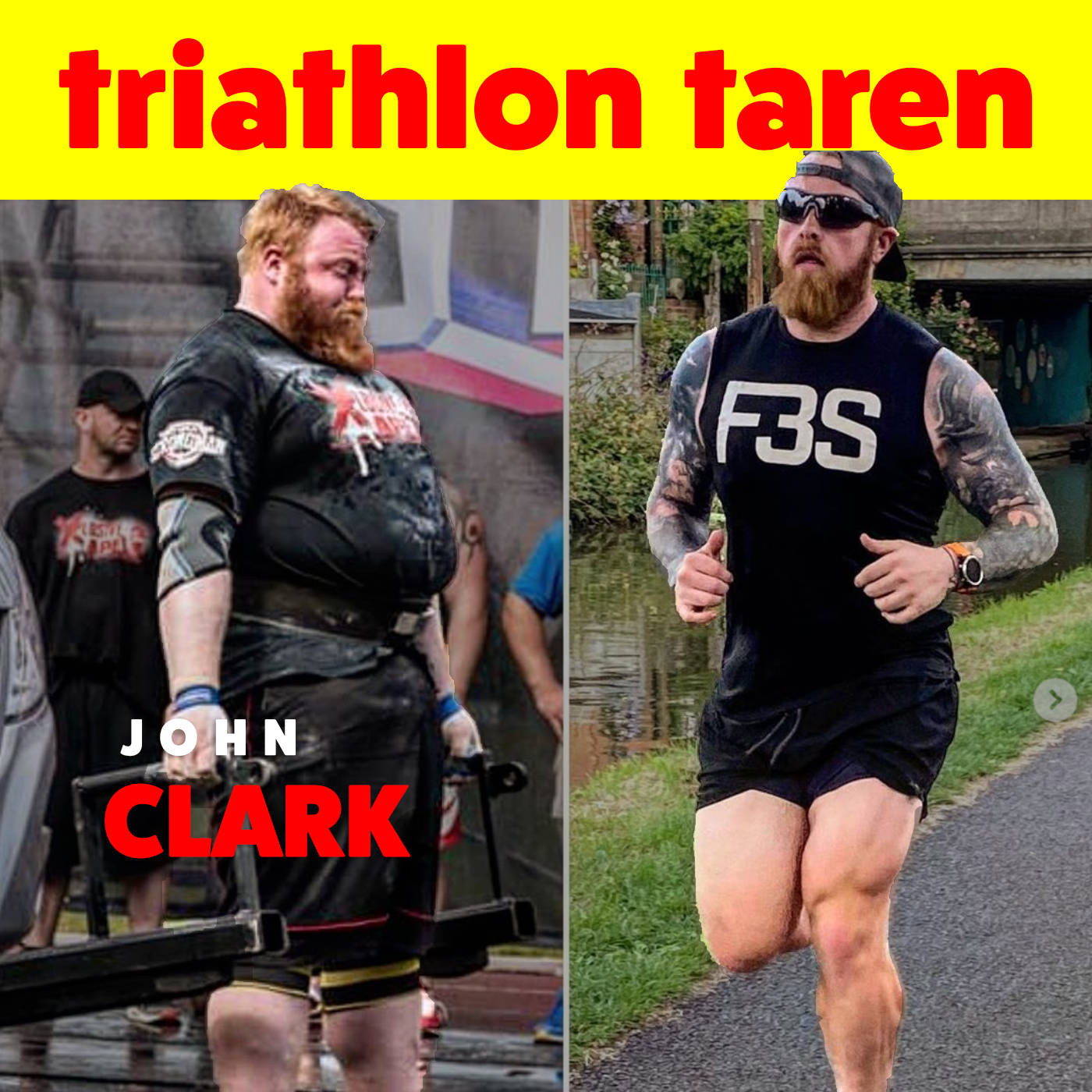 UK's Two Time Strongest Man is Becoming a Triathlete | John Clark