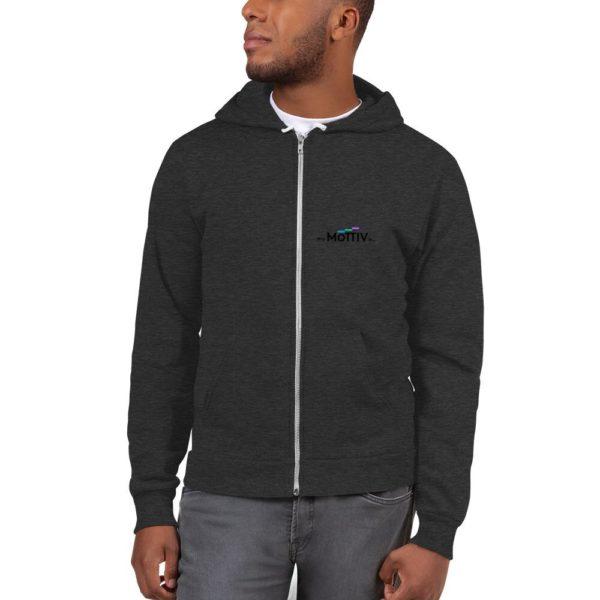 unisex up hoodie dark heather